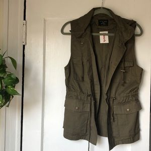 Utility Vest with Hoodie 100% Cotton